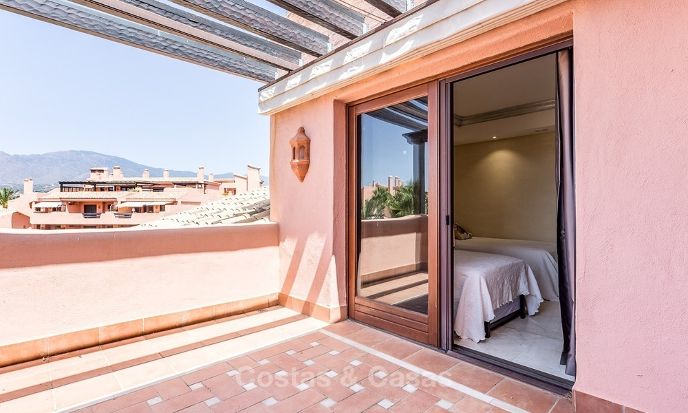 First line beach penthouse apartment for sale on the New Golden Mile between Marbella and Estepona 993
