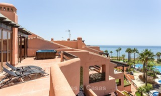 First line beach penthouse apartment for sale on the New Golden Mile between Marbella and Estepona 1011