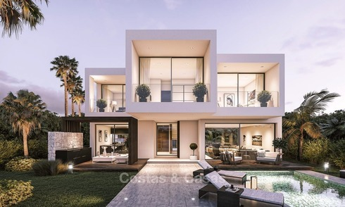 Modern, Stylish Villas for Sale on The New Golden Mile, walking distance to the Beach, between Marbella and Estepona 1119