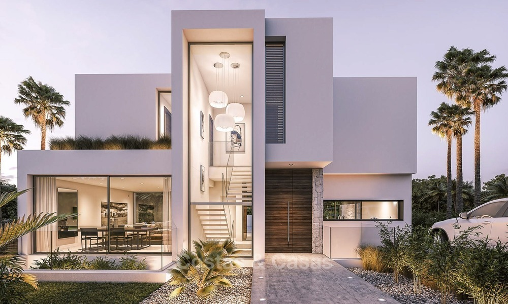 Modern, Stylish Villas for Sale on The New Golden Mile, walking distance to the Beach, between Marbella and Estepona 1120