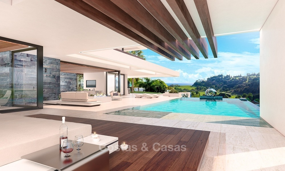 Luxury, New, Modern Villa with Sea- and Golf Views for sale in Benahavis, Marbella 1128