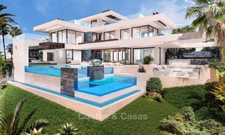 Luxury, New, Modern Villa with Sea- and Golf Views for sale in Benahavis, Marbella 1129