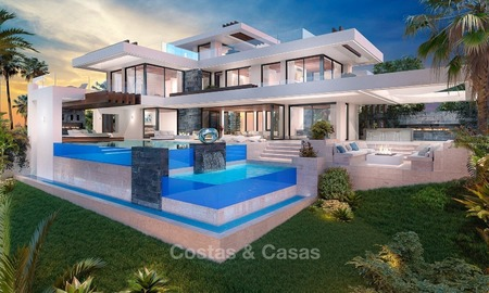 Luxury, New, Modern Villa with Sea- and Golf Views for sale in Benahavis, Marbella 1130