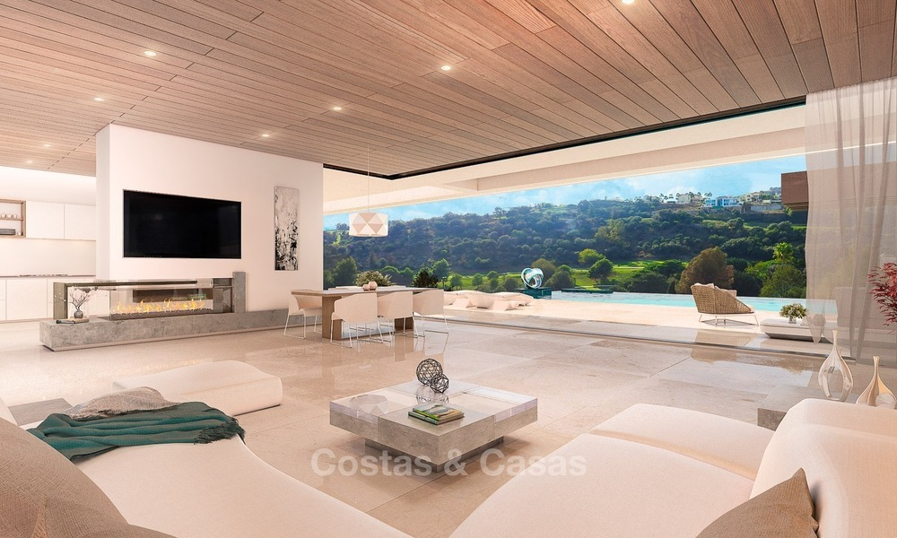 Luxury, New, Modern Villa with Sea- and Golf Views for sale in Benahavis, Marbella 1131