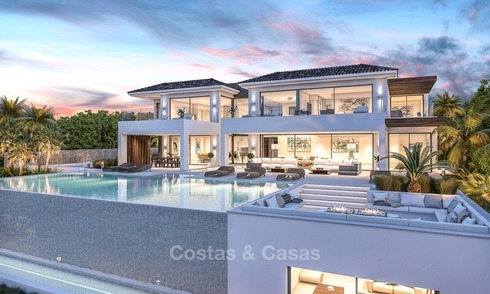 Luxurious, Front line Golf, Modern Villa for sale in El Paraiso, Benahavis, Marbella 1157