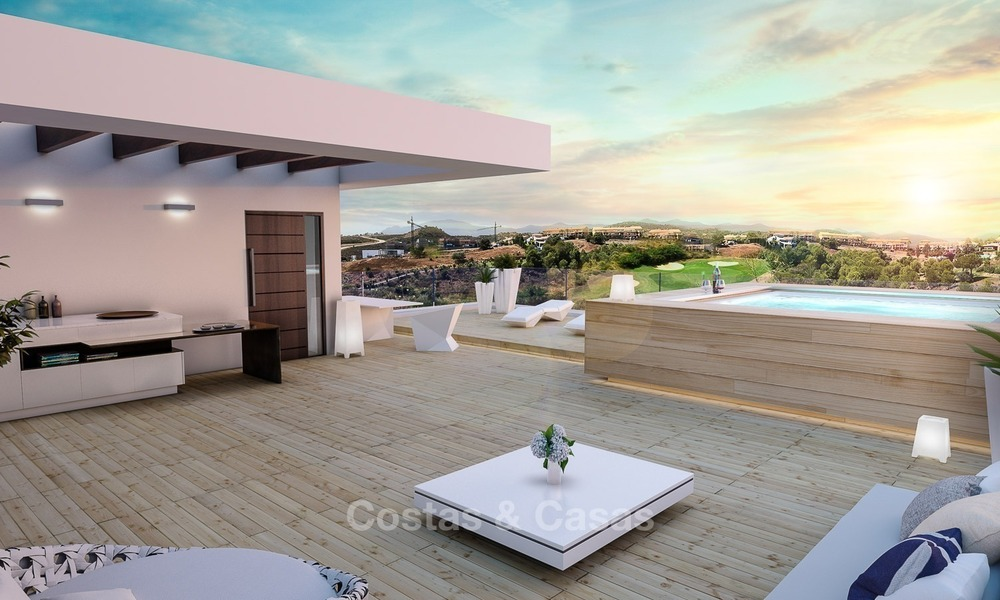 Bargain! Front Line Golf, Modern, Designer Villas with Panoramic views for sale, on The New Golden Mile, Estepona - Marbella 1251