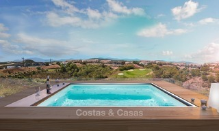 Bargain! Front Line Golf, Modern, Designer Villas with Panoramic views for sale, on The New Golden Mile, Estepona - Marbella 1246