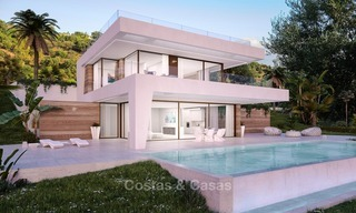 Bargain! Front Line Golf, Modern, Designer Villas with Panoramic views for sale, on The New Golden Mile, Estepona - Marbella 1247