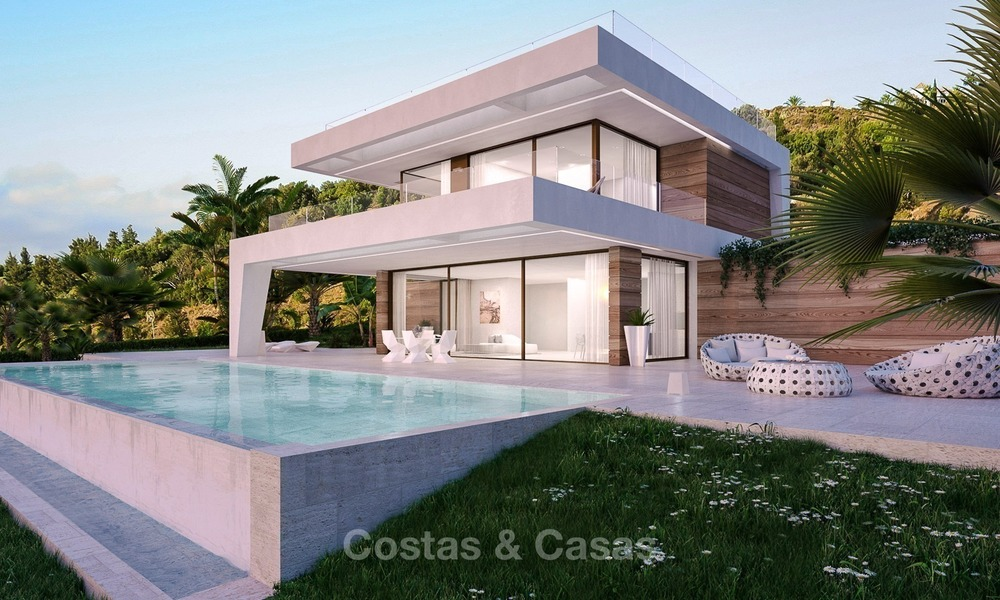 Bargain! Front Line Golf, Modern, Designer Villas with Panoramic views for sale, on The New Golden Mile, Estepona - Marbella 1248