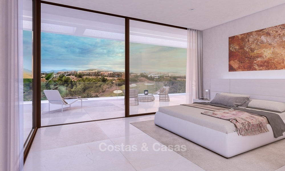 Bargain! Front Line Golf, Modern, Designer Villas with Panoramic views for sale, on The New Golden Mile, Estepona - Marbella 1249