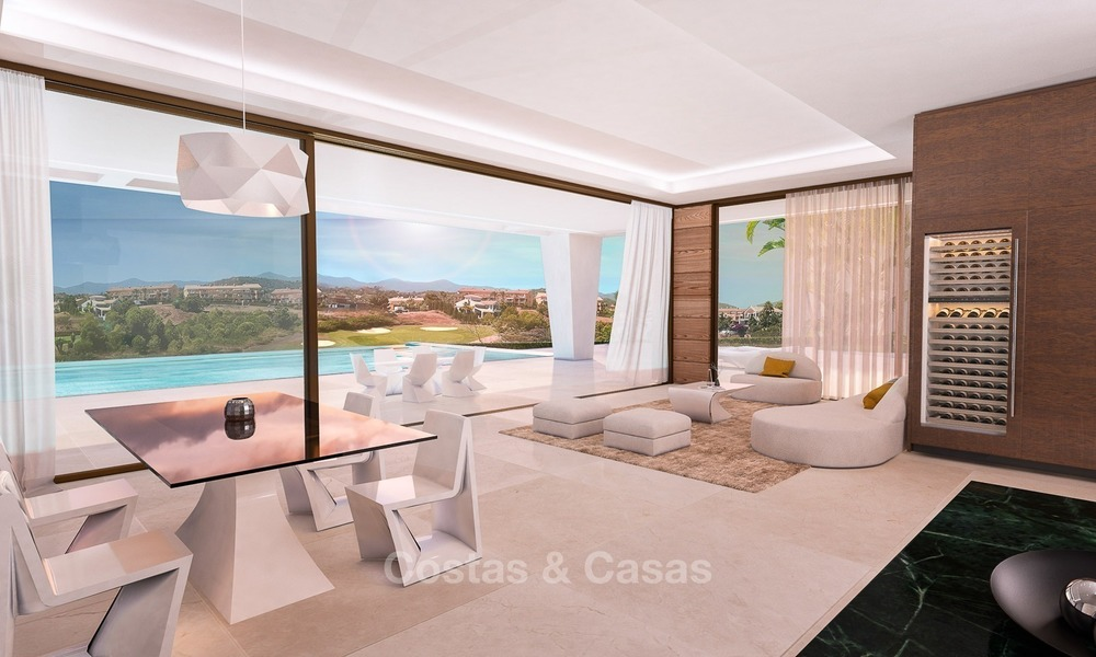 Bargain! Front Line Golf, Modern, Designer Villas with Panoramic views for sale, on The New Golden Mile, Estepona - Marbella 1250