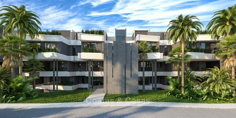 New Development, Contemporary Style, Sea View Apartments for Sale, Marbella - Estepona 10967
