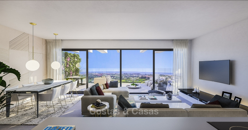 New Development, Contemporary Style, Sea View Apartments for Sale, Marbella - Estepona 10971