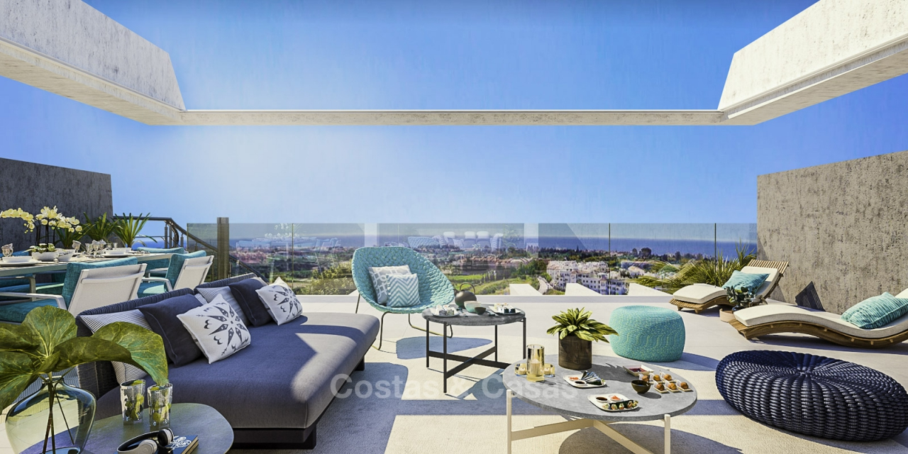 New Development, Contemporary Style, Sea View Apartments for Sale, Marbella - Estepona 10973