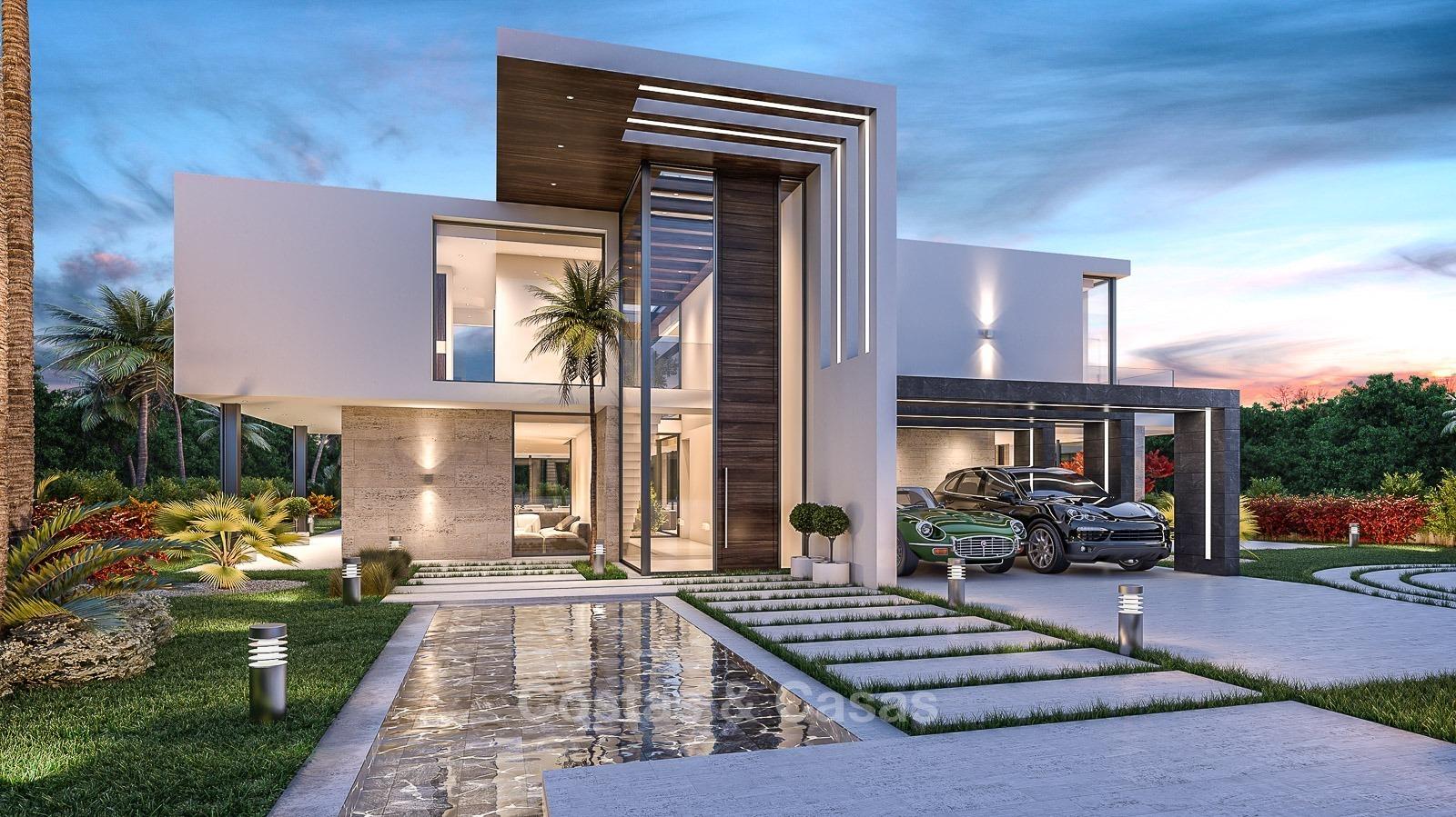 modern sea view villa for sale in nag eles golden mile. Black Bedroom Furniture Sets. Home Design Ideas