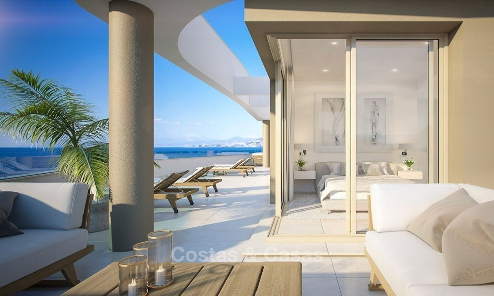 New Beachfront Development of Modern Apartments for sale in Mijas Costa. Completed! Last units! Ready to move in. 1313