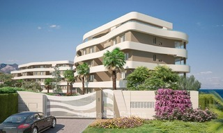 New Beachfront Development of Modern Apartments for sale in Mijas Costa. Completed! Last units! Ready to move in. 1314