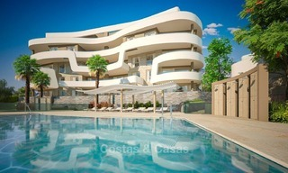 New Beachfront Development of Modern Apartments for sale in Mijas Costa. Completed! Last units! Ready to move in. 1317