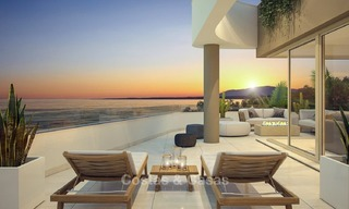 New Beachfront Development of Modern Apartments for sale in Mijas Costa. Completed! Last units! Ready to move in. 1319