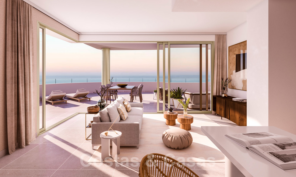 New Beachfront Development of Modern Apartments for sale in Mijas Costa. Completed! Last units! Ready to move in. 28132
