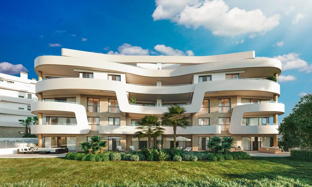 New Beachfront Development of Modern Apartments for sale in Mijas Costa. Completed! Last units! Ready to move in. 28133