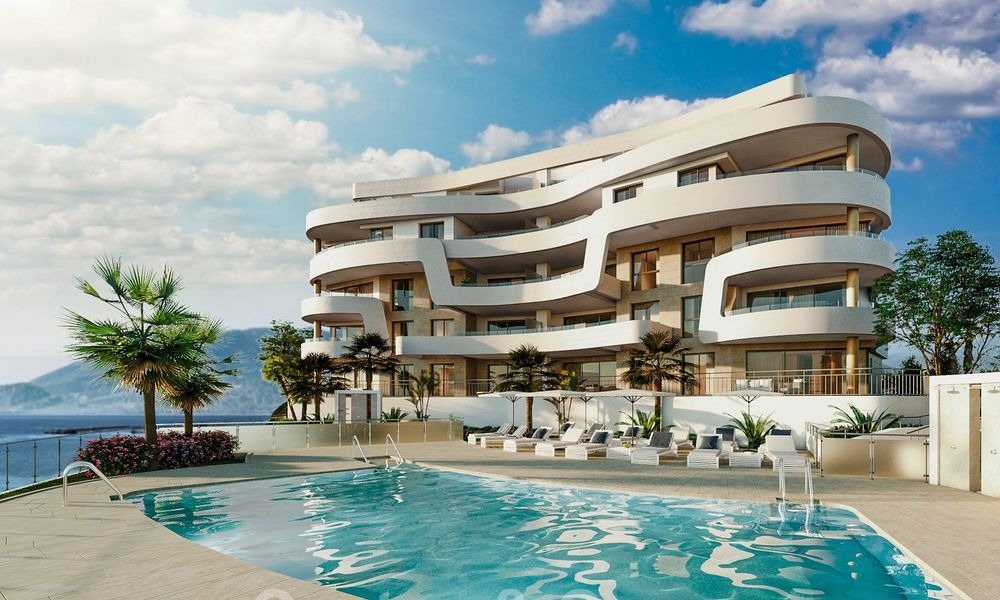 New Beachfront Development of Modern Apartments for sale in Mijas Costa. Completed! Last units! Ready to move in. 28134