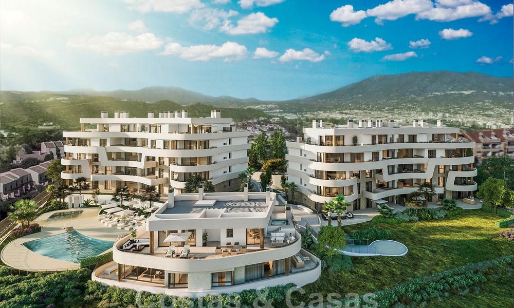 New Beachfront Development of Modern Apartments for sale in Mijas Costa. Completed! Last units! Ready to move in. 28135