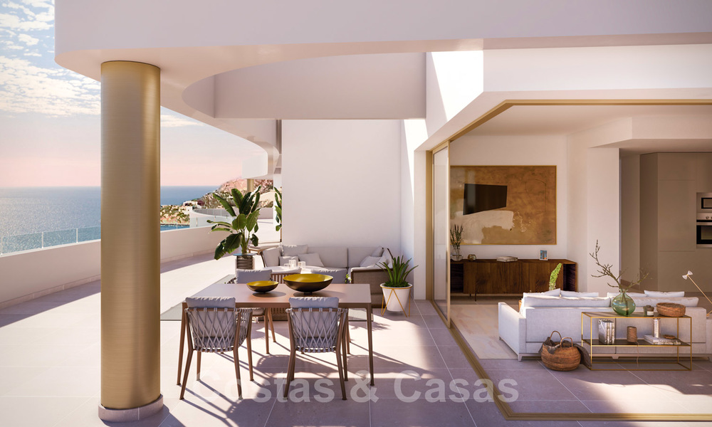 New Beachfront Development of Modern Apartments for sale in Mijas Costa. Completed! Last units! Ready to move in. 28138