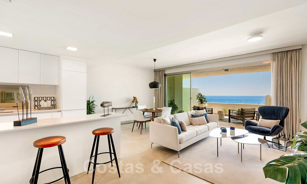 New Beachfront Development of Modern Apartments for sale in Mijas Costa. Completed! Last units! Ready to move in. 28153