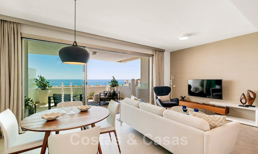 New Beachfront Development of Modern Apartments for sale in Mijas Costa. Completed! Last units! Ready to move in. 28154