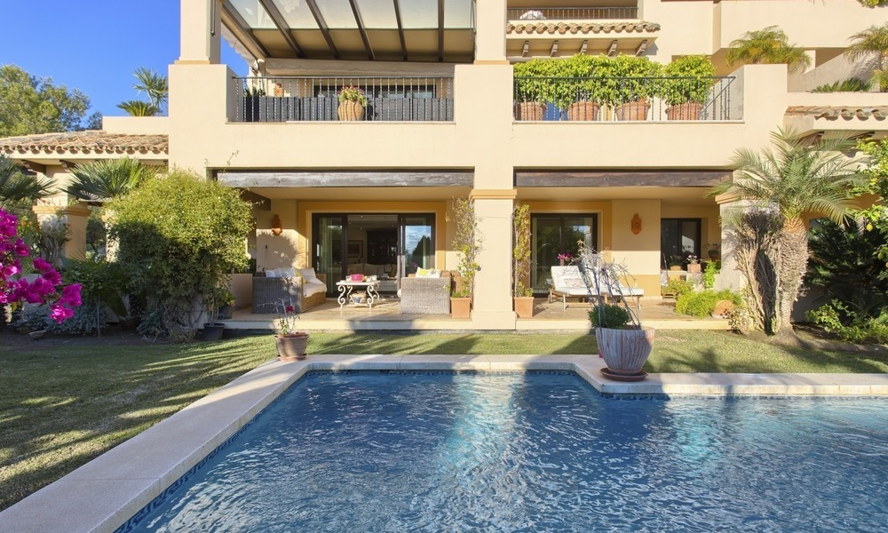 Priced to Sell! Luxurious Ground Floor Apartment with Private Pool in Aloha, Nueva Andalucia, Marbella 1382