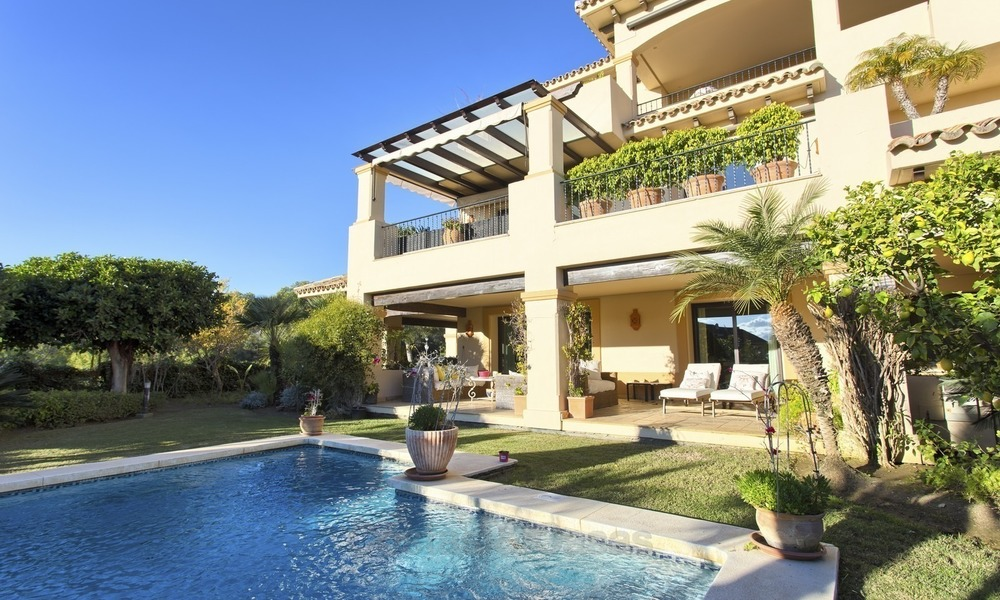 Priced to Sell! Luxurious Ground Floor Apartment with Private Pool in Aloha, Nueva Andalucia, Marbella 1384