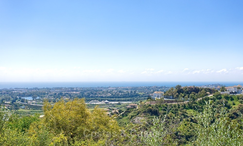 Elevated Ground Floor Apartment with Panoramic Sea views for sale in Benahavis, Marbella 1548