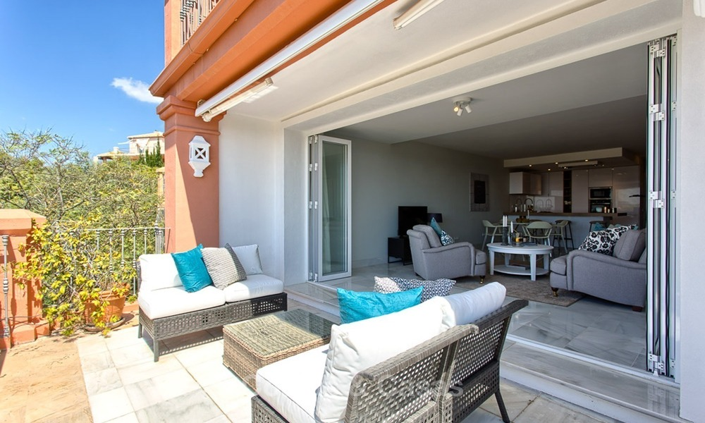 Elevated Ground Floor Apartment with Panoramic Sea views for sale in Benahavis, Marbella 1571