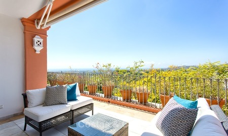 Elevated Ground Floor Apartment with Panoramic Sea views for sale in Benahavis, Marbella 1572