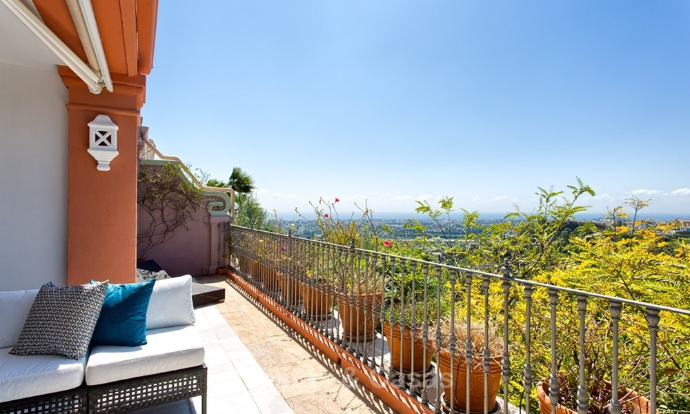Elevated Ground Floor Apartment with Panoramic Sea views for sale in Benahavis, Marbella 1573