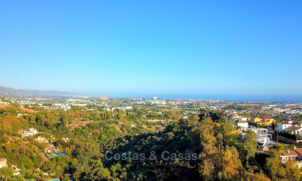 Spectacular Contemporary, Andalusian Style Villa for Sale, Golf- and Sea Views, Benahavis – Marbella 1402
