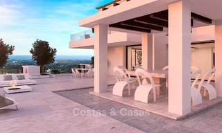 Spectacular Contemporary, Andalusian Style Villa for Sale, Golf- and Sea Views, Benahavis – Marbella 1410
