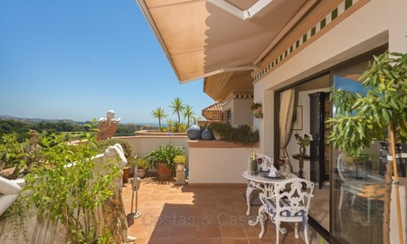 Luxury Penthouse apartment for sale in Gated Community with Panoramic sea and golf views in Rio Real, Marbella 1470