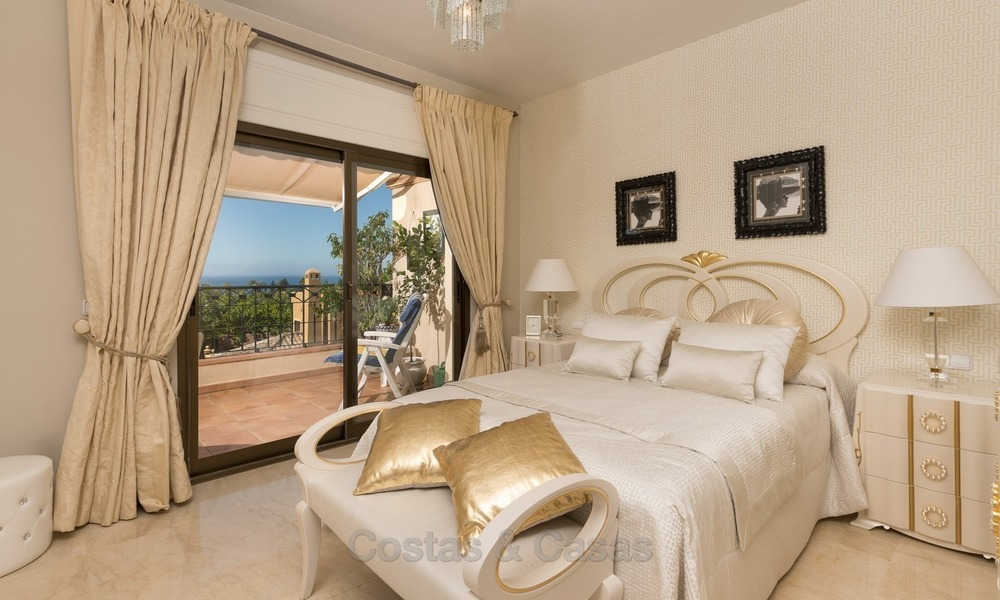 Luxury Penthouse apartment for sale in Gated Community with Panoramic sea and golf views in Rio Real, Marbella 1477