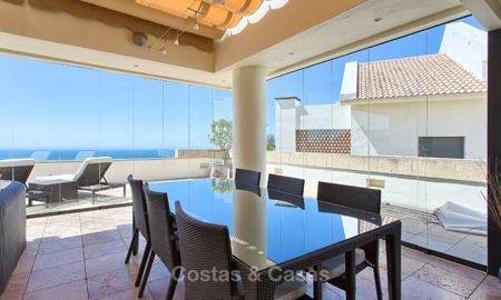 Modern Contemporary style Penthouse apartment with Sea Views for sale in Los Monteros, Marbella 1586