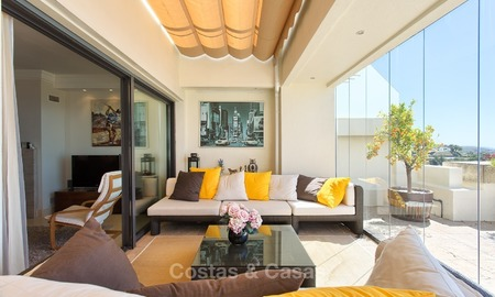 Modern Contemporary style Penthouse apartment with Sea Views for sale in Los Monteros, Marbella 1588