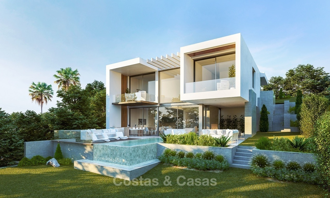 Modern Villas with Sea- and Golf views for Sale, Benahavis, Marbella 1662