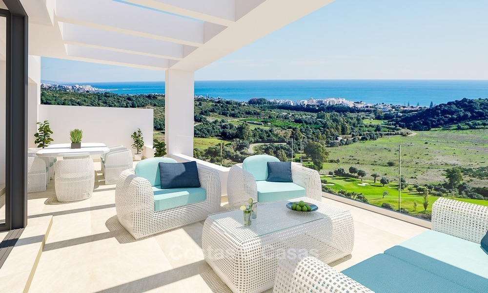 Contemporary, Modern Apartments with Golf- and Sea Views located for sale in Estepona, Costa del Sol 1764