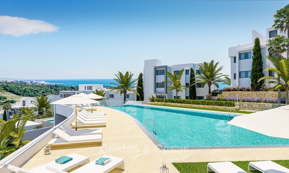 Contemporary, Modern Apartments with Golf- and Sea Views located for sale in Estepona, Costa del Sol 1771