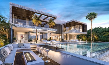 Luxury, Modern Villa for sale located on a Golf Course with Panoramic Golf- and Sea views in Marbella – Benahavis 1959