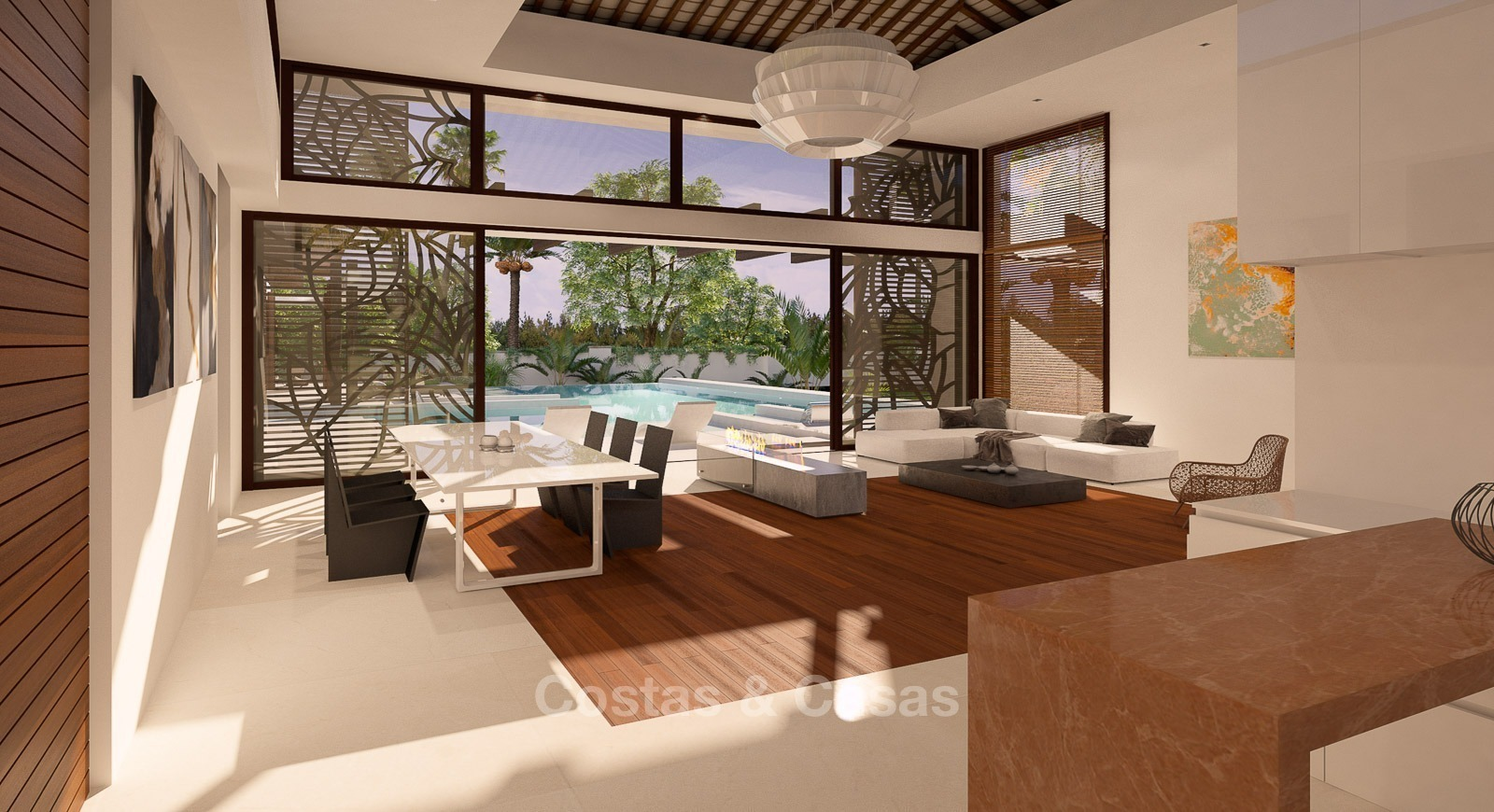 New modern thai style villa with sea views for sale on the new golden mile fullscreen
