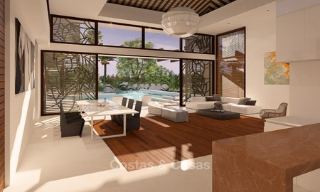 New, Modern Thai Style Villa with Sea Views for sale on The New Golden Mile, Estepona - Marbella 2044