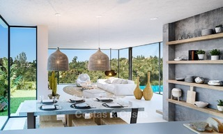 Modern Contemporary Villas for sale in New Development, Frontline Golf in Estepona - Marbella 2052