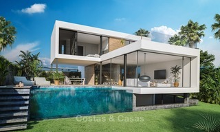 Modern Contemporary Villas for sale in New Development, Frontline Golf in Estepona - Marbella 2057
